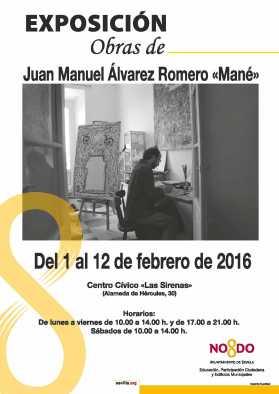 Exposición casa de las sirenas Sevilla, Juan Manuel Alvarez Romero, Mané