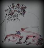 tinta-y-acuarela-sobre-papel-23x31-sombrero-con-pensamiento