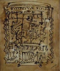 tinta-y-barnices-sobre-tela-40x50-figuras-fenicias