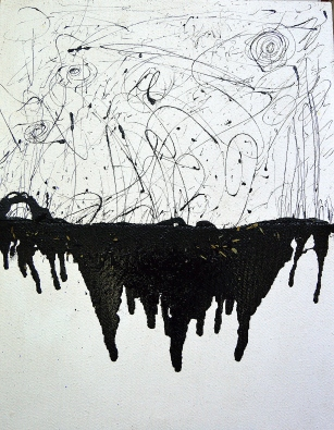Memoria de mar, serie en negro. Human sea